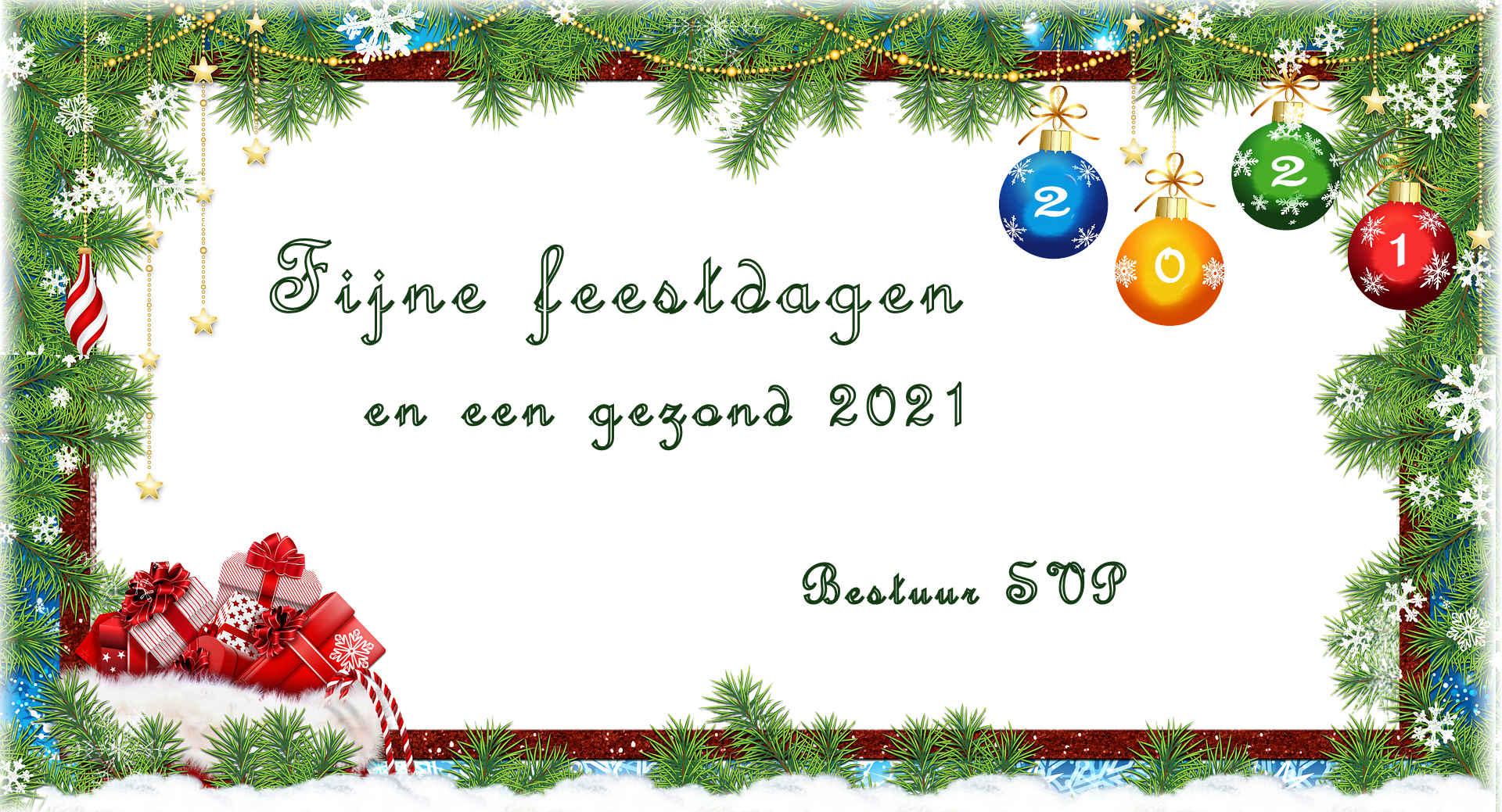 SVP wens feestdagen en 2021